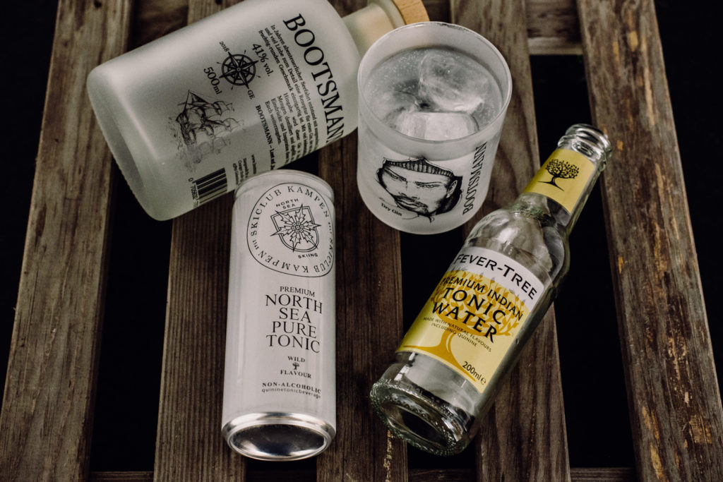 Bootsmann Gin & Tonic, Bootsmann Gin Tonic, Bootsman Gin Perfect Serve, Bootsmann Gin mit Fever Tree Indian Tonic Water, Bootsmann Gin mit Premium North Sea Pure Tonic Water