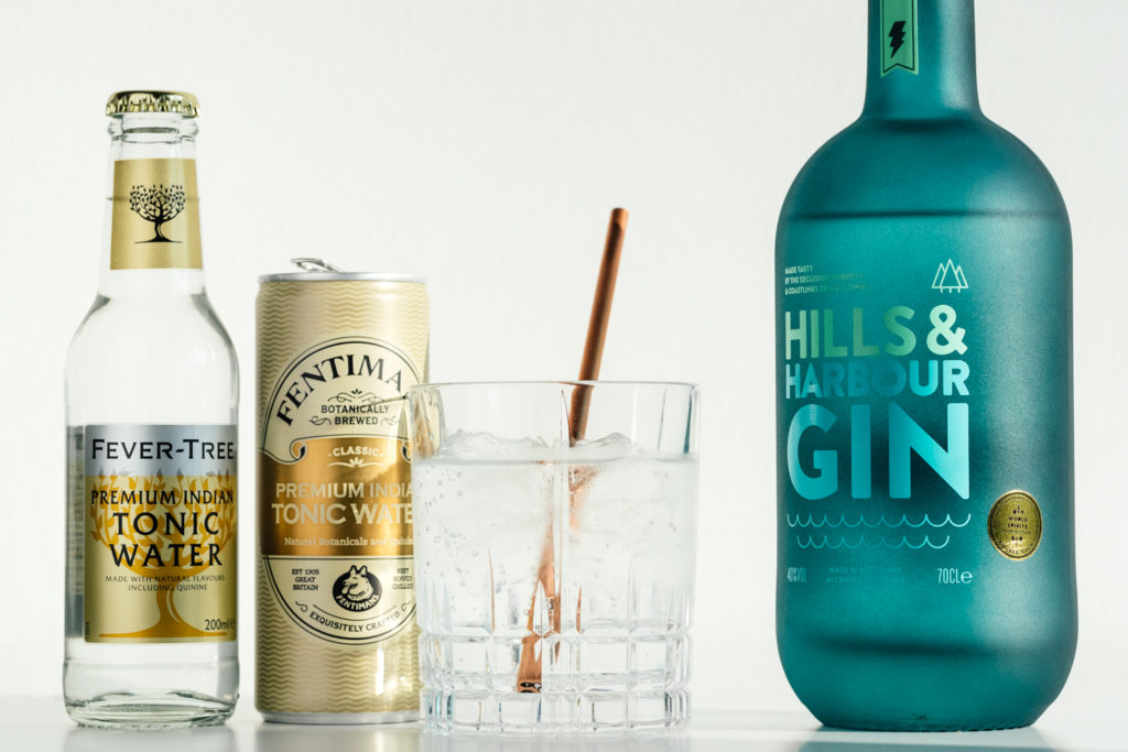 Hills & Harbour Gin Tonic, welches Tonic zum Hills and Harbour Gin, Gin & Tonic, Fentimans Premium Indian Tonic Water, Fever-Tree Premium Indian Tonic Water