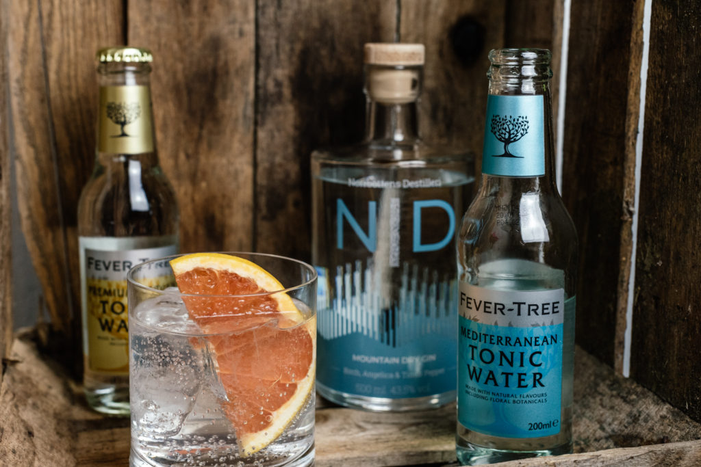 ND Mountain Dry Gin Tonic, Ginblog, Welches Tonic zum Mountain Dry Gin, Gin und Tonic, Fever Tree Mediterranean