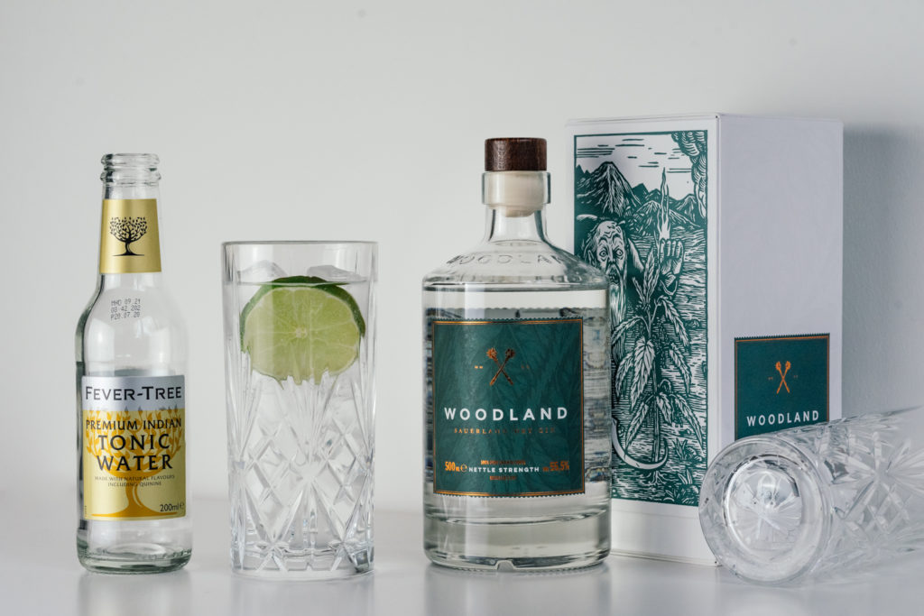 Woodland Gin Tonic mit Fever-Tree Indian Tonic Water, Tonic Water, Gin & Tonic, Woodland Nettle Strength, Woodland Distillers Cut